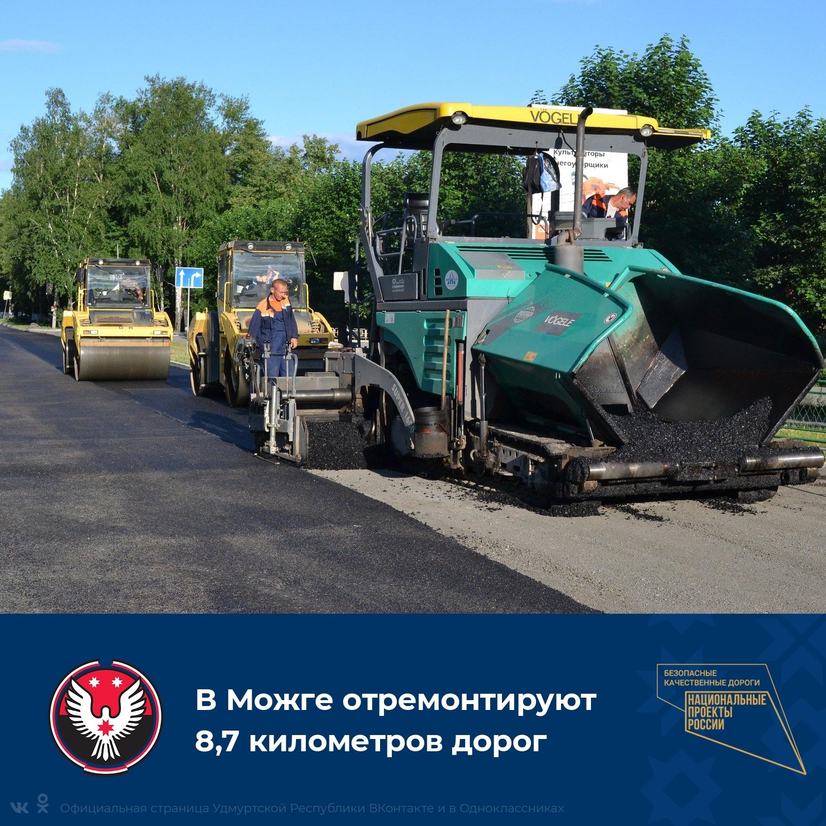 В Можге отремонтируют 8,7 км дорог.