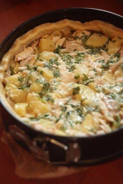 🍴Пирог с курицей и картофелем, изображение №6